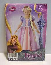 Simplicity Sewing Pattern 0415/2065 Disney Rapunzel Tangled Size A 3-8 UNCUT