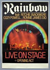 RAINBOW Ronnie James Dio - mega rare original Germany 1977 concert poster