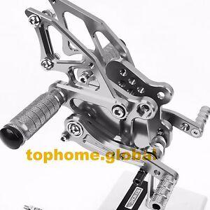 For Kawasaki Ninja 300 2013-2016 Foot Pegs Brake Rear Set Adjustable Grey 2015