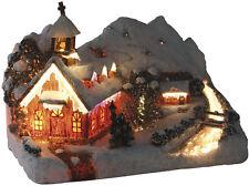 Bergkapelle durch Fiberoptik beleuchtet Weihnachtskirche mit Farbwechsel
