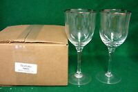 Noritake PARIS Water Goblets BOX SET OF TWO  More Available MINT IN BOX