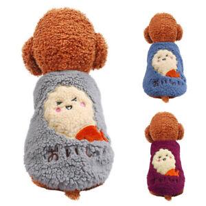 Cute Warm Fleece Puppy Sweaters Vest Chihuahua Clothes Pet Dog Cat Coat Apparel