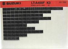 Suzuki LT-A400F Eiger Auto 4WD 2003 Parts Catalog Microfiche s517