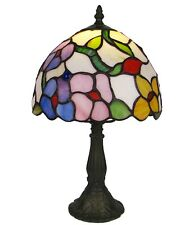 Colour Spring Flowers Tiffany 12''(30cm) Table Lamp With Base