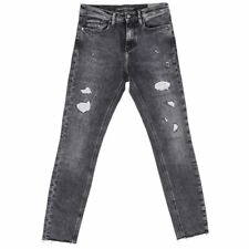 CALVIN KLEIN Jeans Black Distressed Skinny Fit Size 30 RRP £130 RL 272