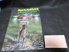 Iron Maiden Somewhere on Tour 1987 Japan Tour Book with Ticket Stub Program