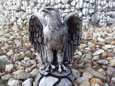 Gartenfigur, Steinguss, Adler 20 cm, Vögel, Gartendeko, Steinadler, Skulpturen