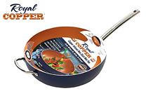 Royal Copper, Nonstick Wok, Wok Pan, 12 Inch Wok, Kitchen Pans, Oven Safe Pan