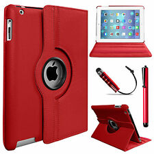 New 360 Rotating Leather Stand Case Cover for Apple iPad 4 3 2 Mini Air 5 6 Pro