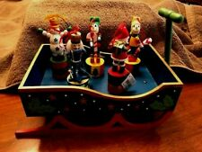 5 Christmas Push Puppets and Display sled Coyne's & Co. 2002