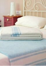 Blanket Cotton White Blue Style Mallorcan Hotel Catering Rossana Individual