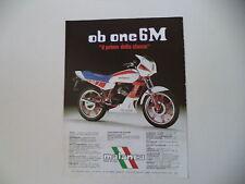advertising Pubblicità 1984 MOTO MALANCA 125 OB ONE 6M