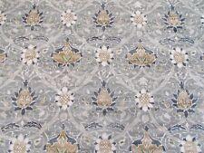 William Morris Curtain Fabric 'MONTREAL' 0.5 METRES (50cm) Grey/Charcoal Velvet
