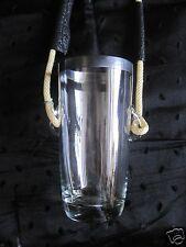 UNUSUAL~VINTAGE 1960'S~LIQUOR/BEER GLASS~APPLIED HANDLES~NECK HANGING~HANDS FREE