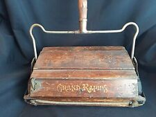 ANTIQUE WOOD CARPET SWEEPER BISSELL'S GRAND RAPIDS CYCO BALL BEARING