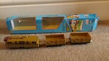 Thomas Friends pista Master Motorised Trains And Diesel 10 en Caja Juego de luz uso