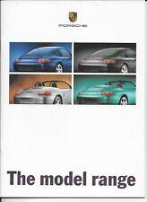 Porsche 911 y Boxster Folleto - 1998-9 - Perfecto Estado