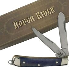 Rough Rider Purple Smooth Handles Tiny Trapper Pocket Knife RR1265 2 Blades 2""