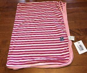 Kickee Pants Girl Bubblegum Stripe Swaddling Blanket Swaddle New