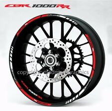 Honda CBR1000RR Fireblade motorcycle wheel decals stickers rim stripes 1000RR