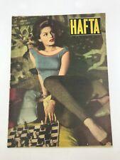 HAFTA #20 Turkish Magazine BELINDA LEE COVER 1950s Ultra Rare MARILYN MONROE Ads