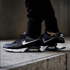 Nike Air Max 90 Hombre Negro Blanco Gris Zapatillas Zapatillas Todas las Tallas