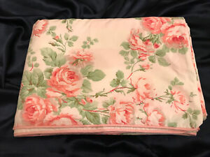 RARE! Vintage Laura Ashley Country Roses Queen Double Side Duvet Cover MINT!