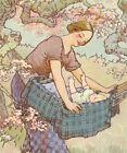 1915 double side Art Print Hush a bye Baby Mother Goose  Frederick Richardson