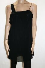 PORTMANS Brand Black One Shoulder Chiffon Over Mini Dress Size 10 BNWT #TR24