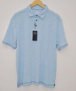 Nat Nast Luxury Originals Medium M Polo Short Sleeve Shirts Light Blue Golf New