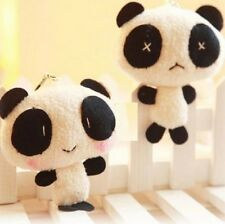 FD3095 Cute Sweet Panda Plush Toy Doll Keychain For Cellphone Bag Decor Gift ^