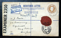 Registered Letter,Westminster Bank London England to Long Island NY, May 29 1941