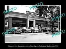 OLD POSTCARD SIZE PHOTO OF HANOVER NEW HAMPSHIRE THE PACKARD CAR STORE c1950