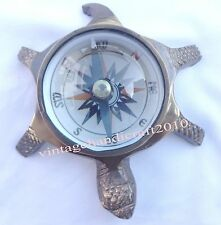 Antique Nautical Vintage Marine Tortoise Compass  Brass Compass  Gifted Item