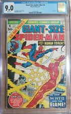 1975 Giant-Size Spider-Man 6 CGC 9.0 Human Torch Web of Flame RARE