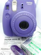 Fujifilm Instax MINI 8 Instant Camera - Grape / Purple with 10 shots Film Pack