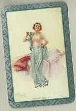 Swap Playing Vintage Card  Good Night