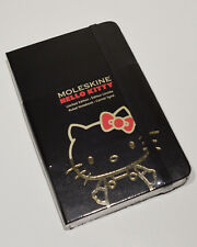MOLESKINE Black Gold Hello Kitty SANRIO Limited Edition Notebook Pad + Bookmarks