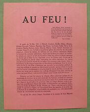 Surrealism 1931; AU FEU ! , Louis Aragon, Andre Breton, Yves Tanguy, Paul Eluard