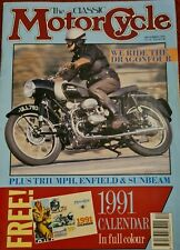 ClassicMotorcycle -the Douglas Dragonfour 750cc, Triumph Speed Twin Tested.