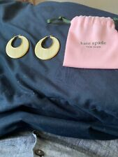 NEW KATE SPADE on the dot hoops WITH DUST BAG
