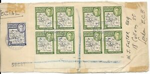 Falkland Islands Cover Front with 9 George VI Stamps