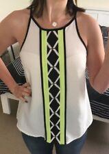 NEW Geometric Aztec Cami Top Size 8 Dotti Clothing