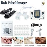 Digital Tens Unit Acupuncture Pads Pain Relief Machine Body Pulse Massager Set