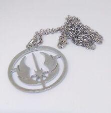 Star Wars Jedi Necklace Pendant. Silver coloured  - UK SELLER