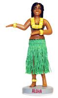 Wiggling Hawaiian Hula Girl Dashboard Bobble Head