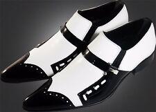 ou G CHELSY - Top insolite italien designer mocassins blanc/noir 40