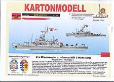 MDK-Verlag 7030 - Kartonmodell - 2x  MSR kurz Projekt 89.1 - Volksmarine - 1:250