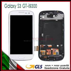 LCD+TOUCH SCREEN PER SAMSUNG GALAXY S3 GT-i9300 DISPLAY SCHERMO+FRAME +TELAIO!!!