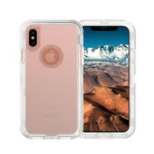 For iPhone XR Transparent Defender Case (Works on Otterbox Belt Clip) Clear